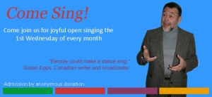 Come Sing! open singing evenings in Ottawa with Barclay McMillan